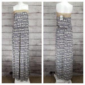 Bobeau L Americana Strapless Maxi Summer Dress NWT